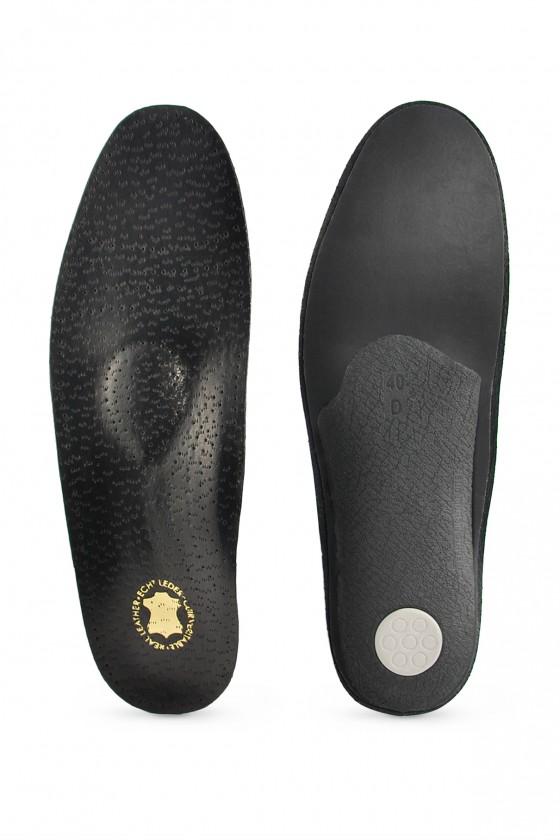 Profiled leather black