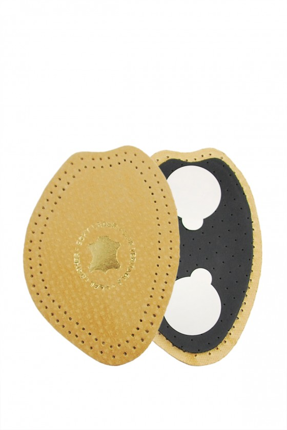 Leather half-inserts on latex
